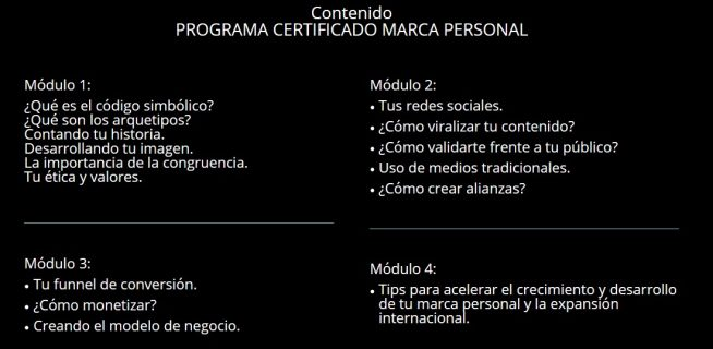 programa y curso de de marca personal